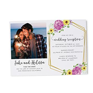 amazon com floral photo wedding reception invitation ideas