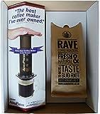 Aerobie AeroPress Coffee Maker & 250 g Rave Coffee Signature Blend Ground Coffee Gift Box