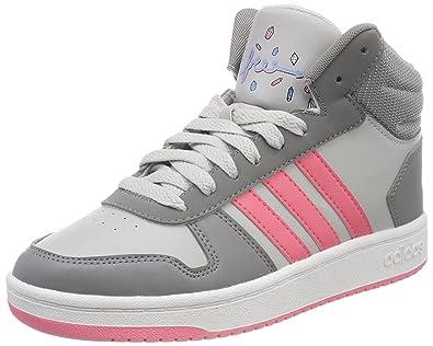 big sale fdf76 f4ed6 adidas Hoops Mid 2.0 K, Chaussures de Fitness Mixte Enfant, Gris (Gritre