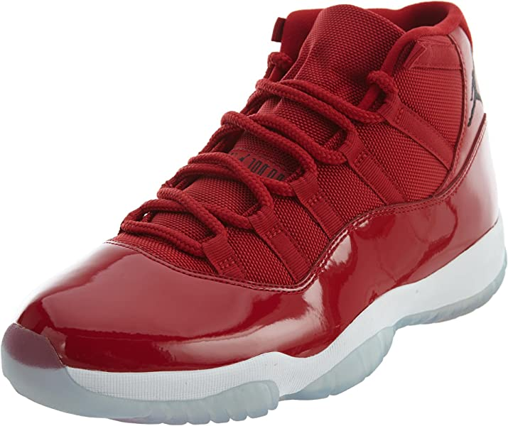 quite nice de98c 59f1d Amazon.com | Jordan Mens Air 11 Retro, Gym Red/Black-White ...