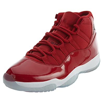 1c112fed384 Nike Air Jordan 11 Retro Big Kids  Basketball Shoes Gym Red Black-White