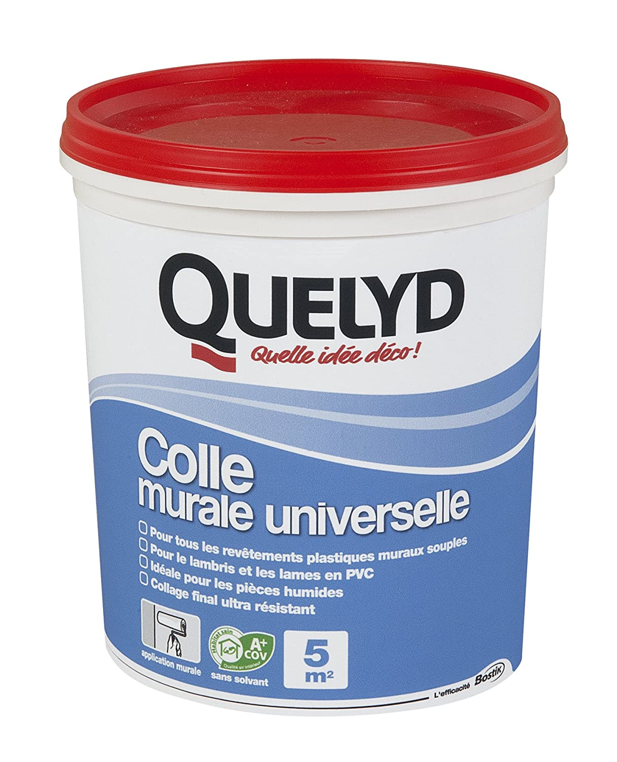 Bostik SA 005005 Colle murale universelle Pot de 1 kg QL005005