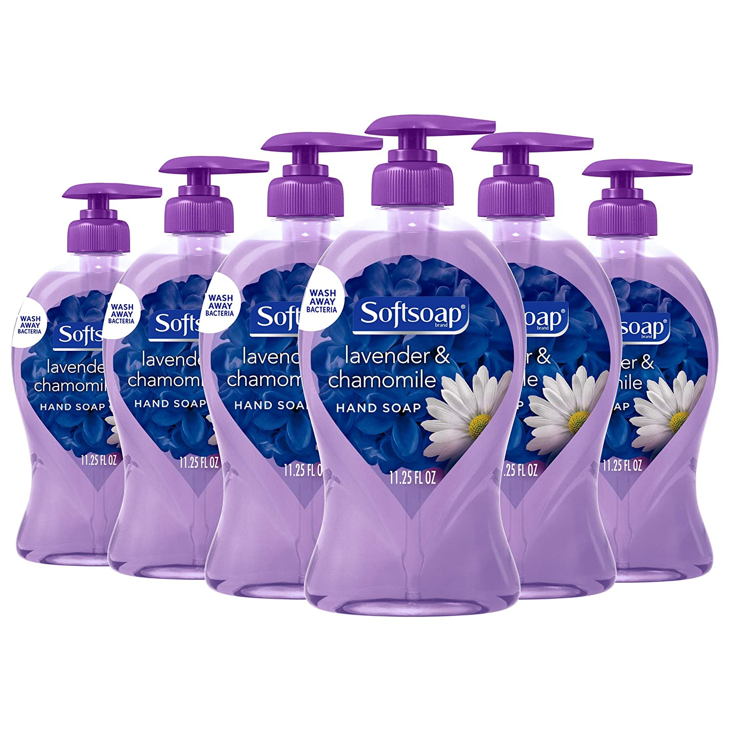 Softsoap Liquid Hand Soap, Lavender and Chamomile - 11.25 fluid ounces (6 Pack): Beauty