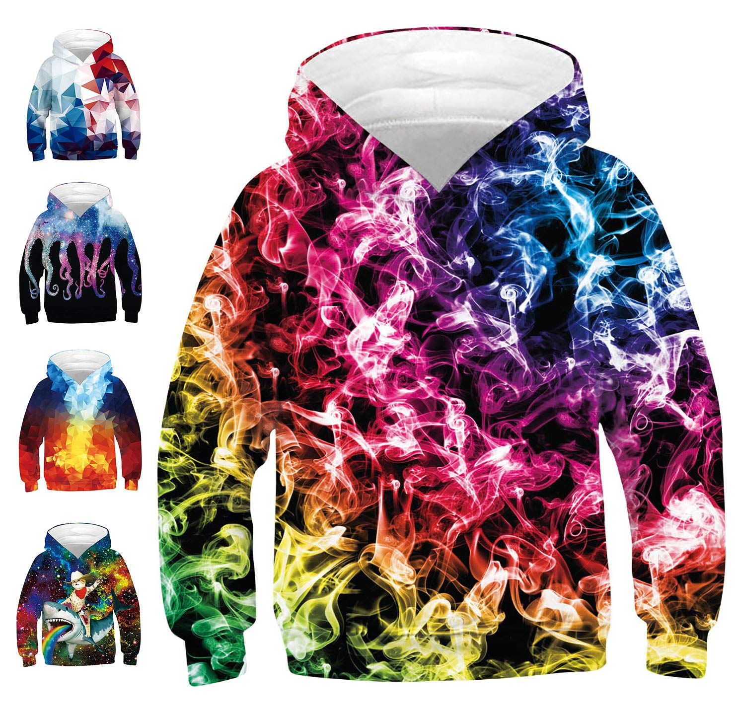 Super colorful hoodie sweatshirt that will turn heads