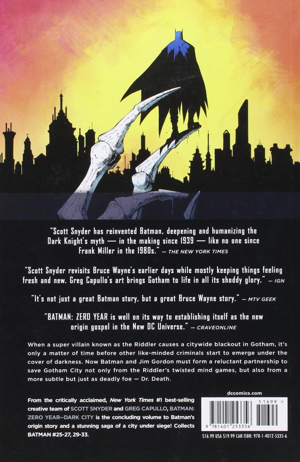 Amazon Batman Vol 5 Zero Year Dark City The New 52
