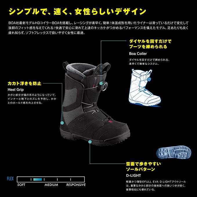 92c0d54d1f Amazon.com : Salomon Pearl Boa Womens Snowboard Boots : Sports ...