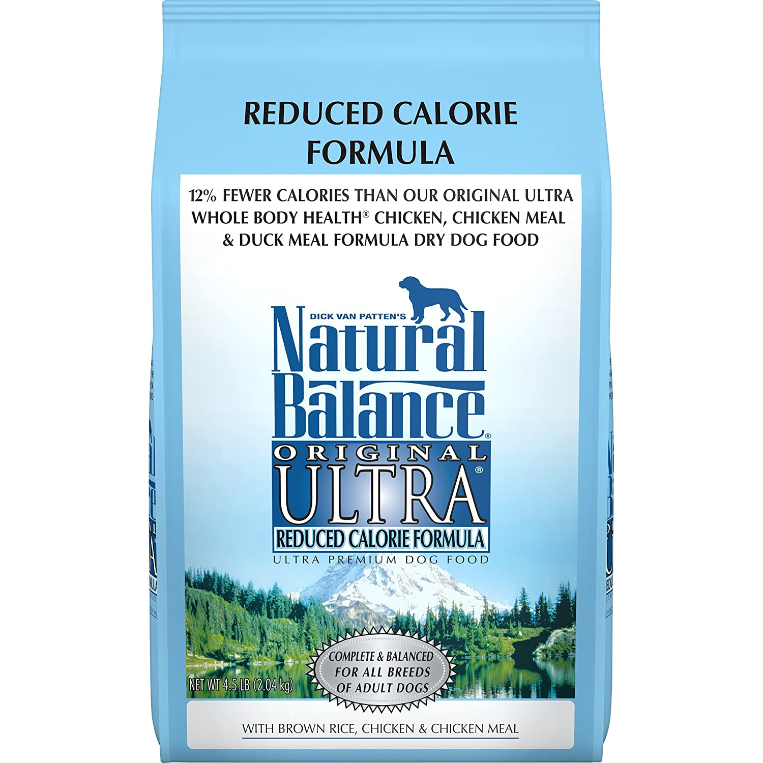 N A Natural Balance Original Ultra Reduced Calorie Formula Dry Dog Food, 4.5-Pound