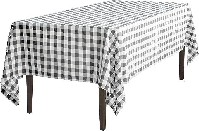 Amazon Com 60 X 102 In Rectangular Tablecloth Black White Checker Home Kitchen