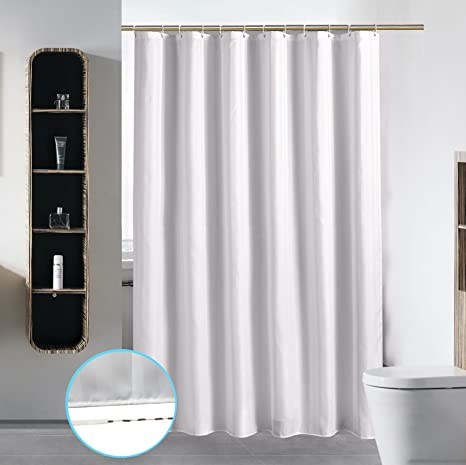 Water-Resistant Bathroom Shower Curtain Sets Thicker-Extra Long with Hooks Ring