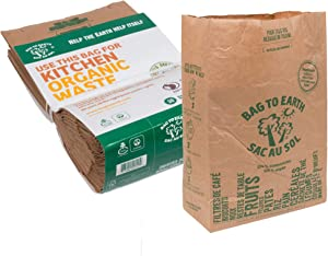 Bag to Earth - Kitchen Food Waste Bag - Compostable Bag - Leak Resistant Cellulose Liner - Small - 30 Bags