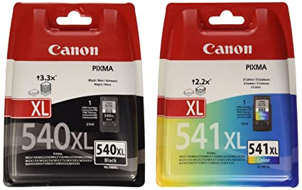 Canon PG-540XL+CL-541XL Cartucho de tinta original Negro XL y Tricolor XL para Impresora de Inyeccion de tinta Pixma ...
