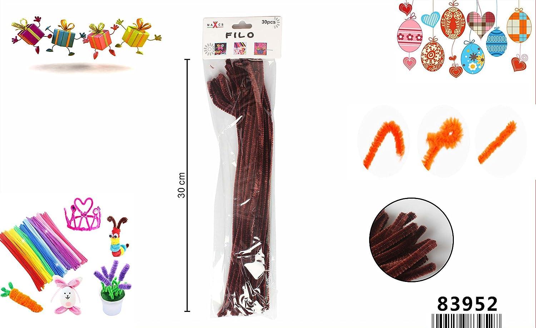 LinQ® 30x Chenilledraht Pfeifenreiniger Biegeplüsch Basteldraht, Pfeifenputzer 30cm Braun braun 30cm 30Stk