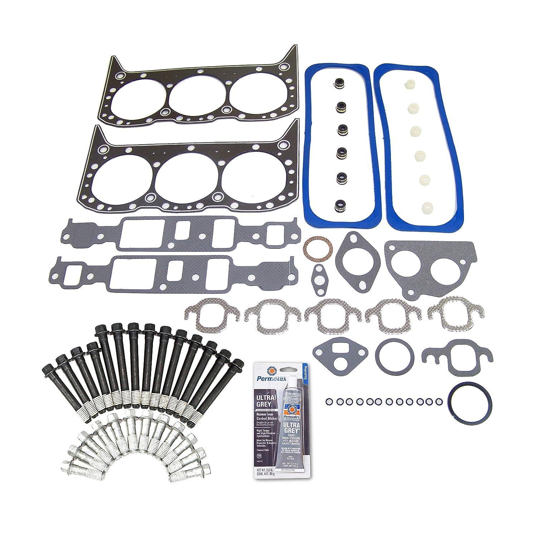 Head Gasket Set Bolt Kit Fits 87-92 Chevrolet G30 GMC S15 Oldsmobile 4.3L OHV VIN Z