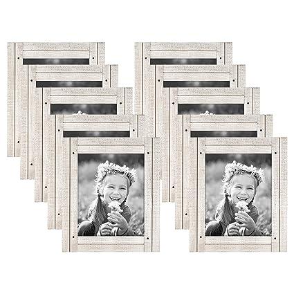 Amazon.com - Americanflat 10 Pack - 8x10 Aspen White Distressed Wood ...
