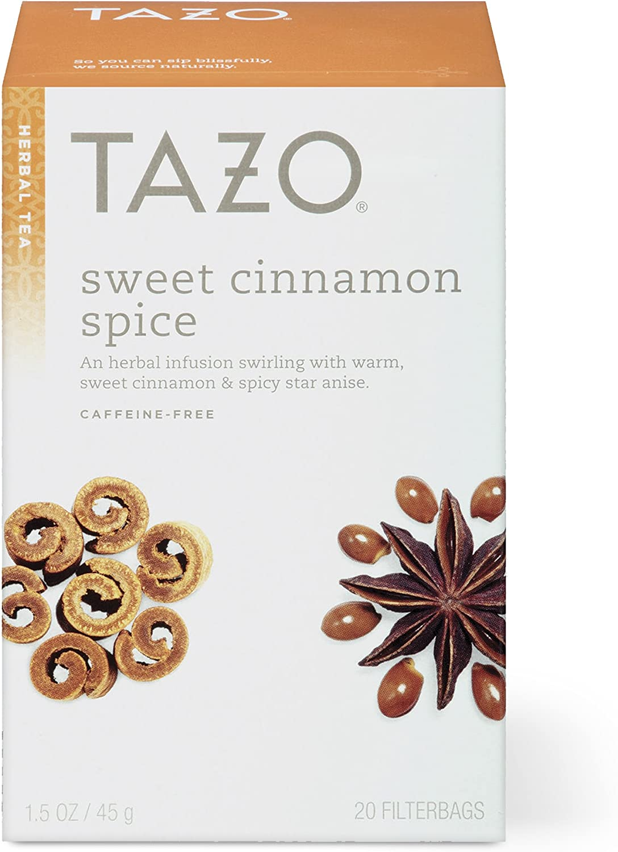 TAZO Sweet Cinnamon Spice Herbal Tea Filterbags (20 Count)