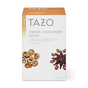 Tazo Sweet Cinnamon Spice Herbal Tea Filterbags, 20 Count (Pack of 6)