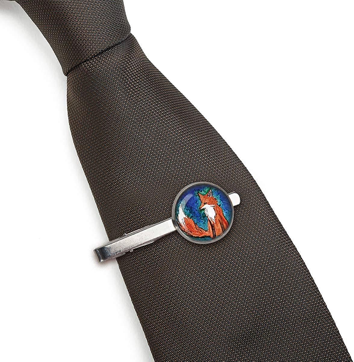 LooPoP Men Tie Clip Fox Animal Stainless Tie Pins for Business Wedding Shirts Tie Clips Include Gift Box
