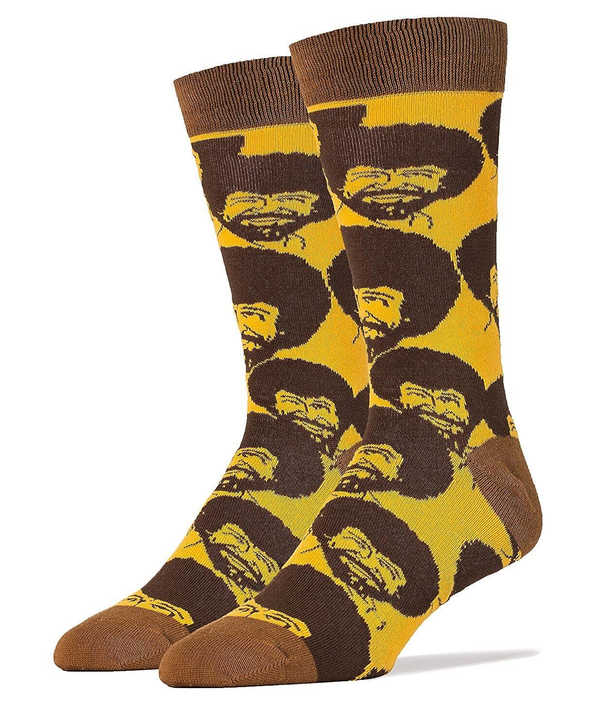 Bob Ross Flash Mob Men's Crew Socks JY Instyle MD5024C