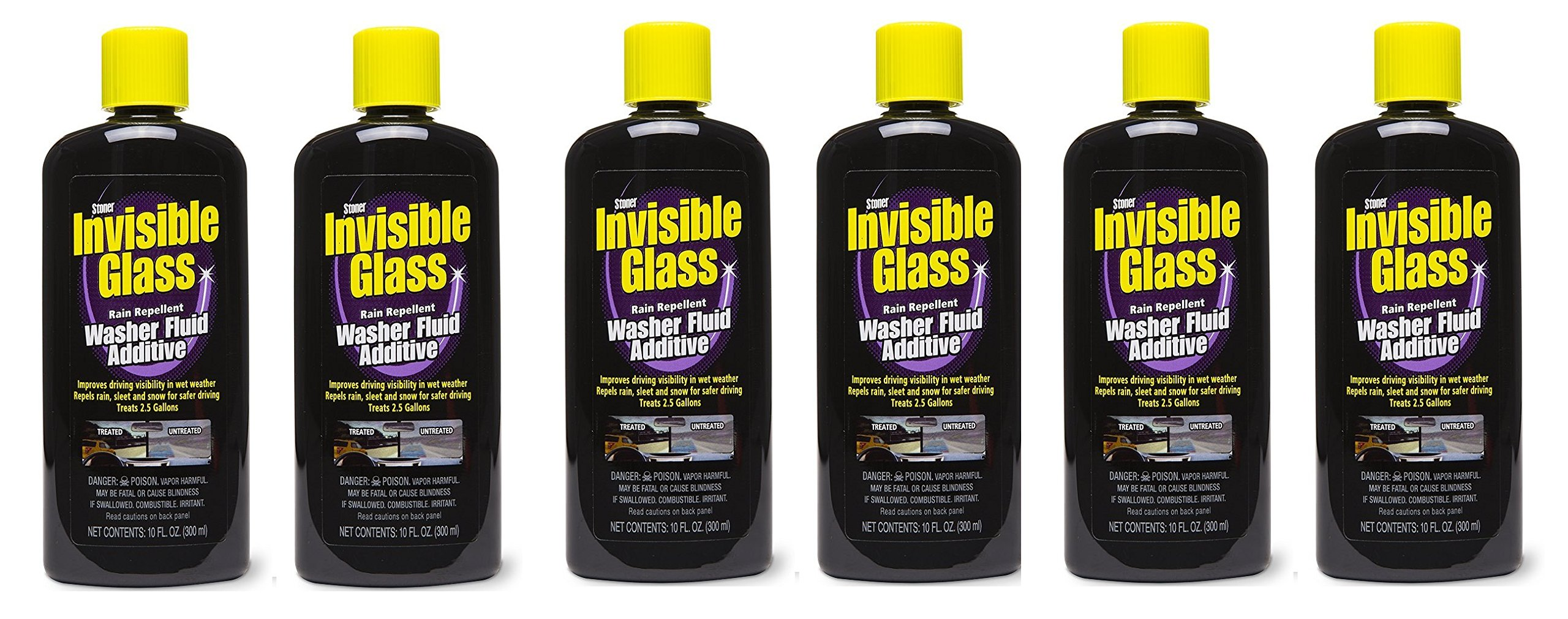 Stoner Invisible Glass Premium Glass Cleaner with Rain Repellent Washer Fluid Additive - 10 oz, 91491 (6)