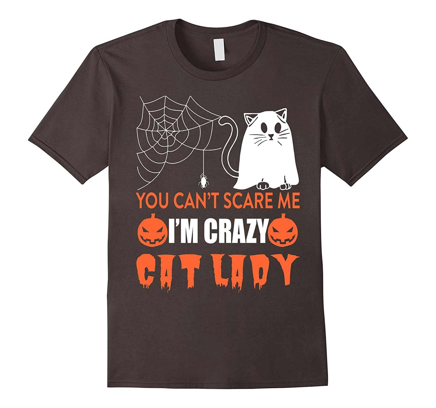 Halloween You Cant Scare Me Im The Crazy Cat Lady T Shirt-RT