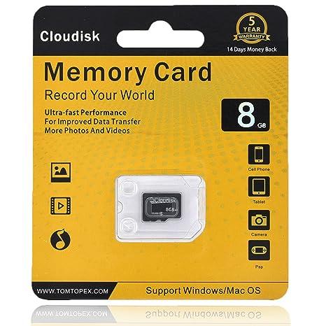 Cloudisk Tarjeta de Memoria Micro SD de 8 GB para Smartphones y tabletas