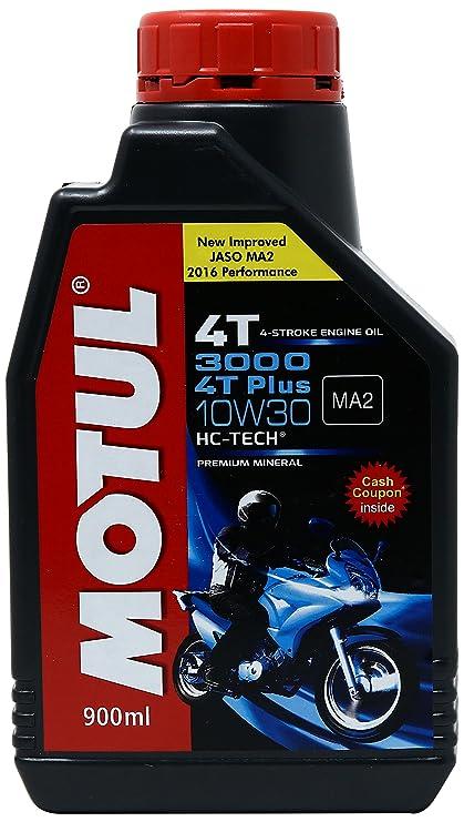 Motul 3000 4T Plus 10W-30 HC Tech Motorcycle Oil (0 9 L)