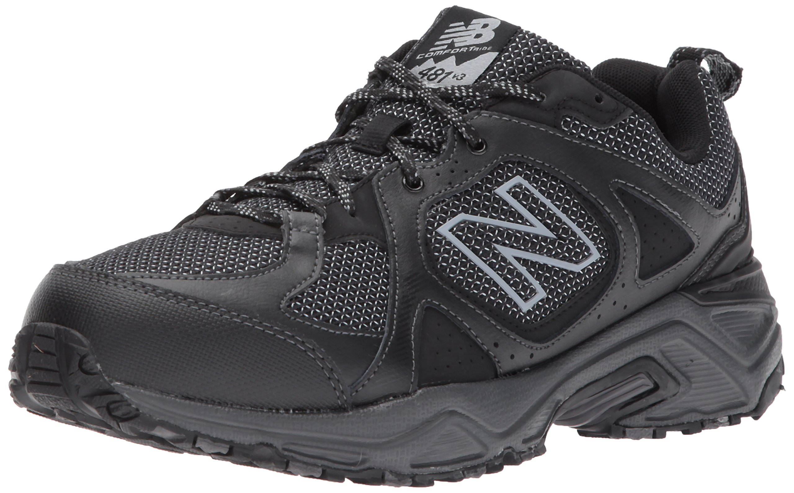 New Balance Men's 481V3 Cushioning Trail Running Shoe, Black, 7 D US