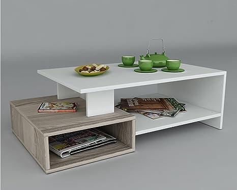 DUX Tavolino basso da salotto - Bianco / Avola - materiale in legno ...