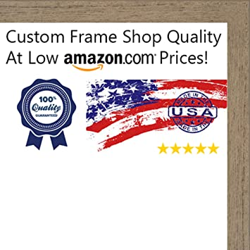 Amazon.com - 20x26 Rustic Walnut Wood Picture Frame - UV Acrylic ...