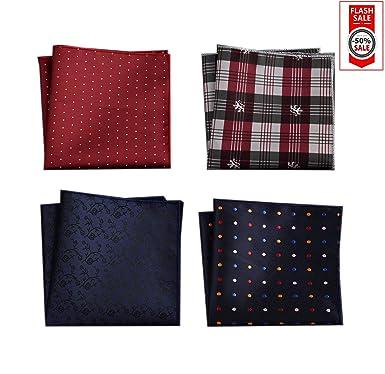 SevenAndEight S E Foulard carré homme Foulard de poche homme Mouchoir en  polyester, convient 0e91e1ed54f