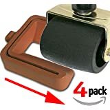 "Bed and Furniture Stopper - Requires ""No Lifting"" of Your Bed - It Works - Caster Cups, Keeps Bed and Furniture From Sliding, Bed Caster Stopper. Solid Rubber. Brown Color."