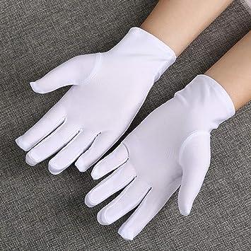 PI Guantes de algodón de nylon blanco para la hidratación ...