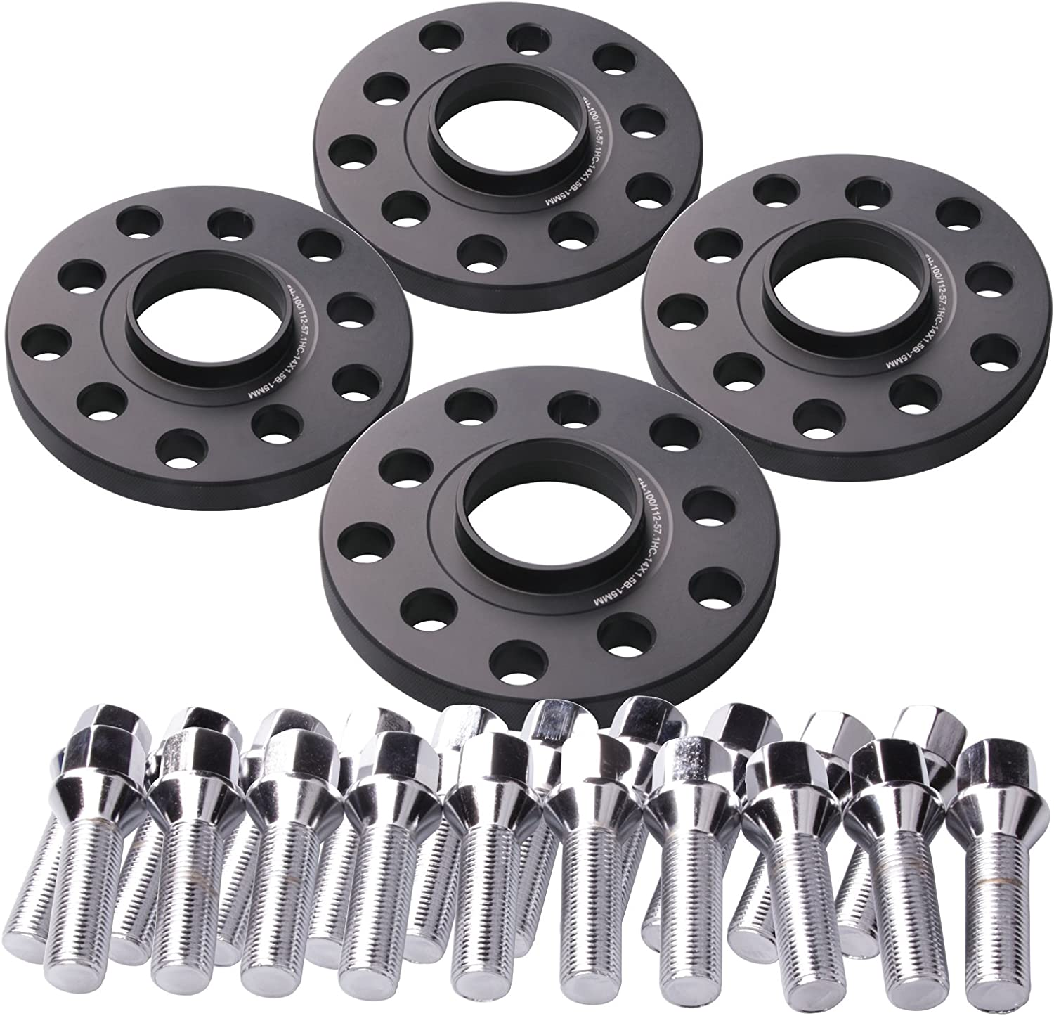 Audi A4 A5 Hubcentric 15mm Wheel Spacers Radius Bolts,Locking Bolts