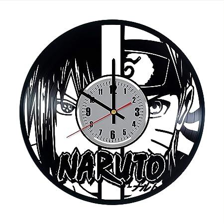 Naruto vs Sasuke - Reloj de Pared de Vinilo - Naruto vs ...
