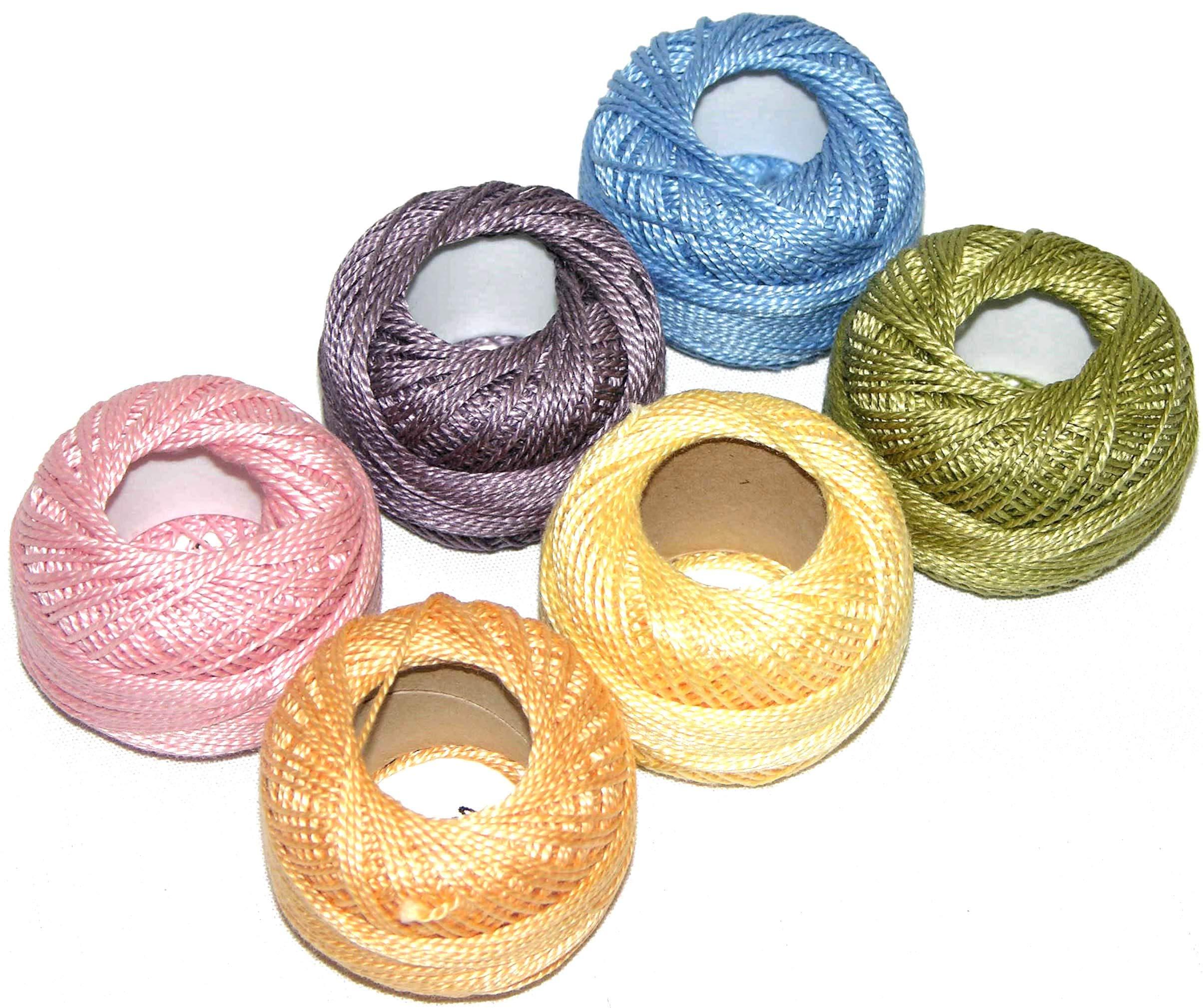 Pearl Cotton Size 5 Thread Sampler Pack Monet