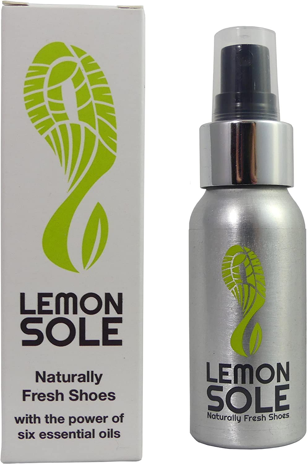 Lemon Sole - POWERFUL & NATURAL Shoe Freshner & Deodoriser with 6 Essential Oils. Great & Effective for Sports