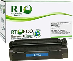 Renewable Toner Compatible Toner Cartridge Replacement for HP 15A C7115A Laserjet 1000 1200 1220 3300 3380