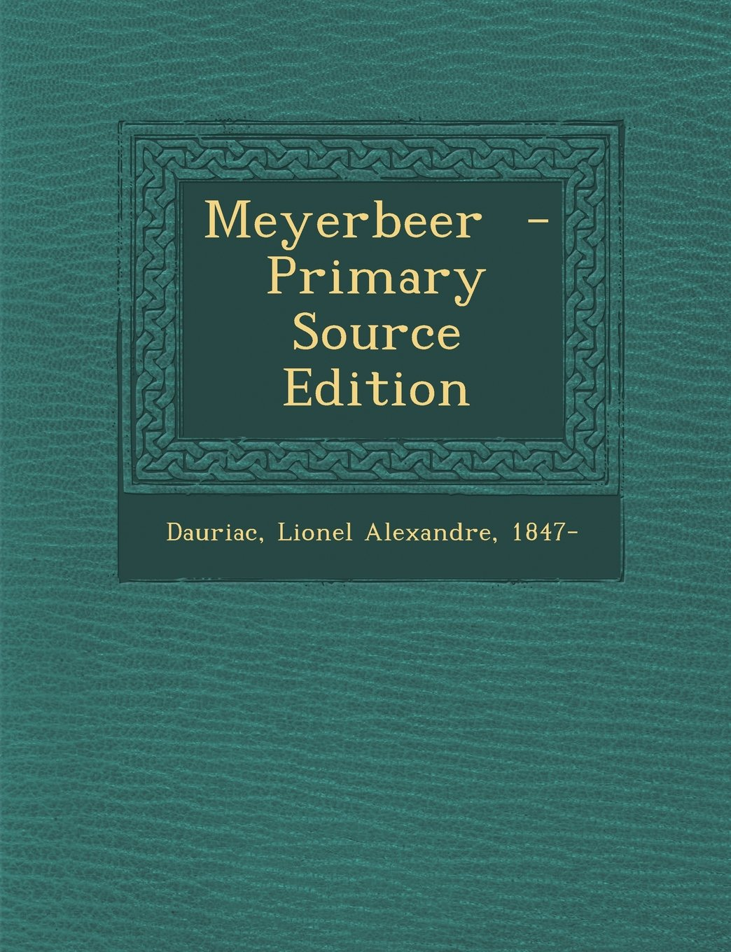 Download Meyerbeer - Primary Source Edition (French Edition) pdf