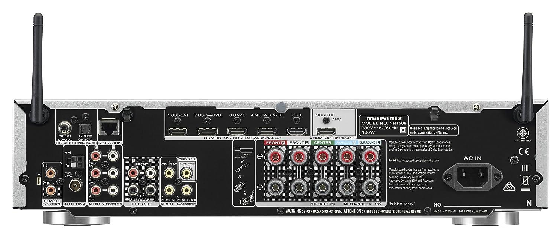 Marantz NR1508 50W 5.1canales Envolvente 3D Negro - Receptor AV (50 W, 5.1 Canales, Envolvente, 85 W, Inalámbrico y alámbrico, AAC+,MP3,WMA): Amazon.es: ...