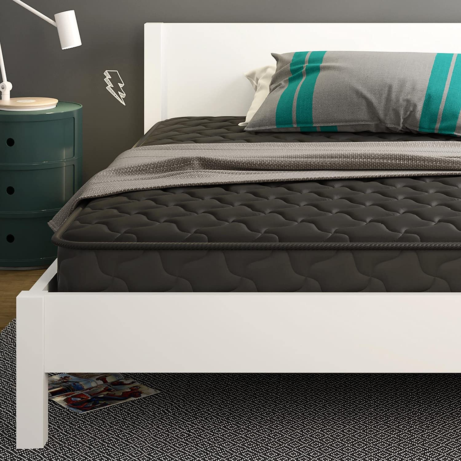 amazon com signature sleep essential 6 inch coil mattress made with