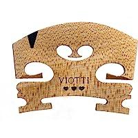 Viotti Violin Bridge 4/4: Finer Grade Solid Maple Violin Bridge, Pre-Cut & Pre-Fitted to Fit Most 4/4 Violins, Crafted…