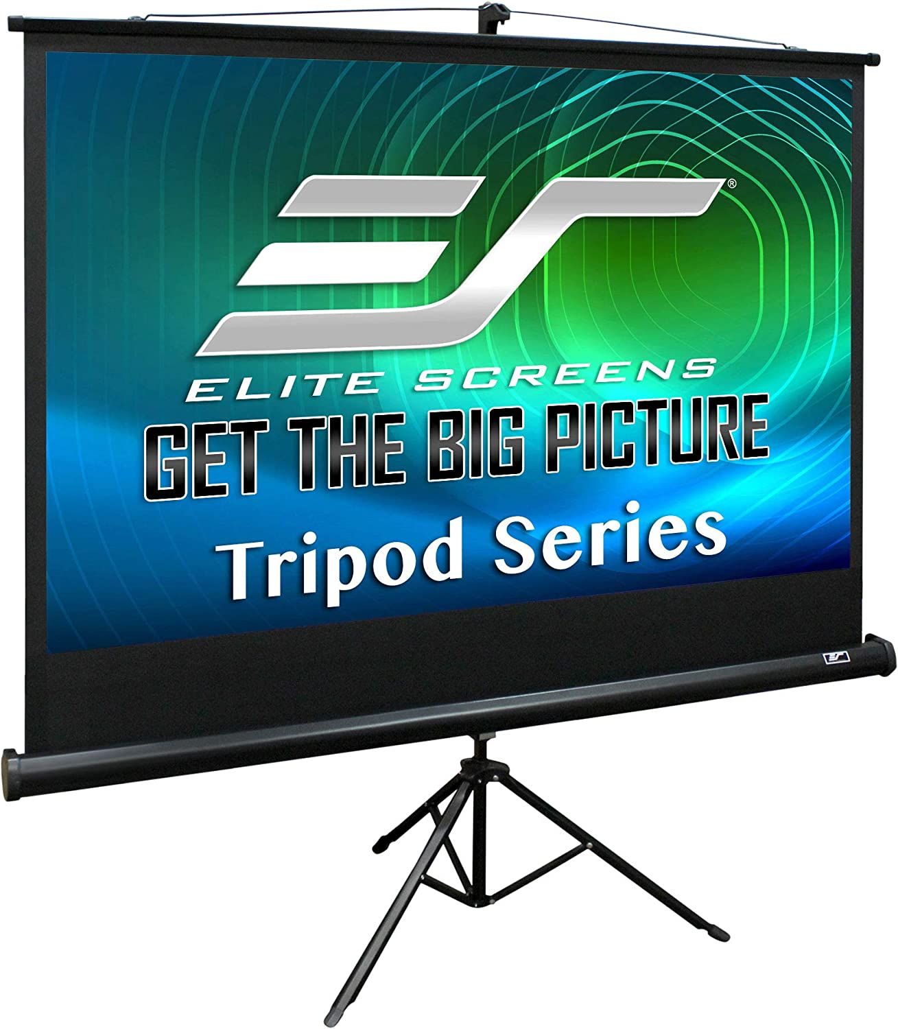 Elite Screens Tripod Series 100 Inch 4 3 Adjustable Multi Aspect Ratio Portable Indoor Outdoor Projector Screen 8k 4k Ultra Hd 3d Ready 2 Year Warranty T100uwv1 Black Home Audio Theater