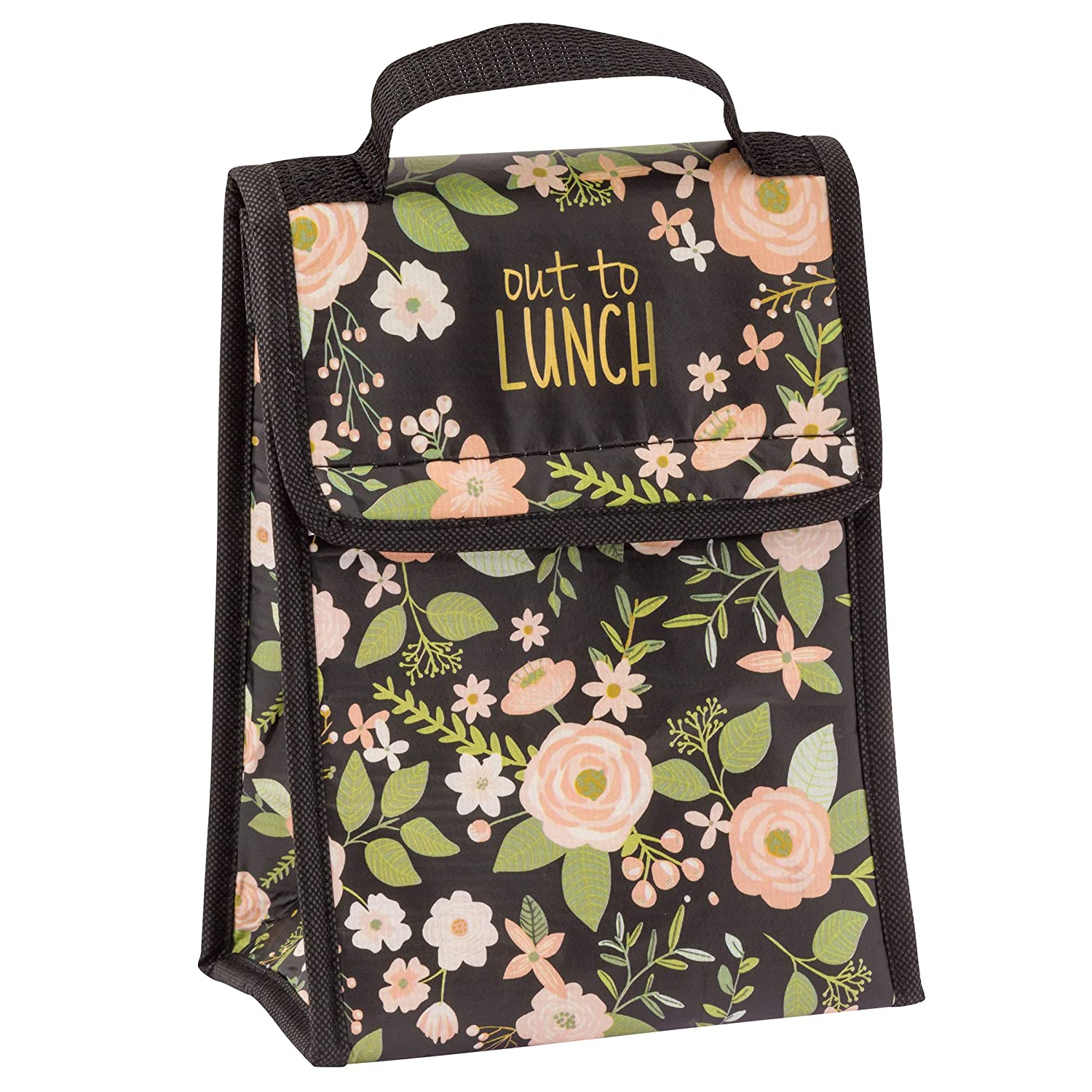 8c8fd898e677 Karma Gifts Lunch Sack, Charcoal Flower