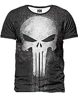 THE PUNISHER - Marvel Comics T-Shirt Man Uomo - Spiderman T-Shirt Serie TV Fumetti Film Supereroi Il Punitore Frank Castle