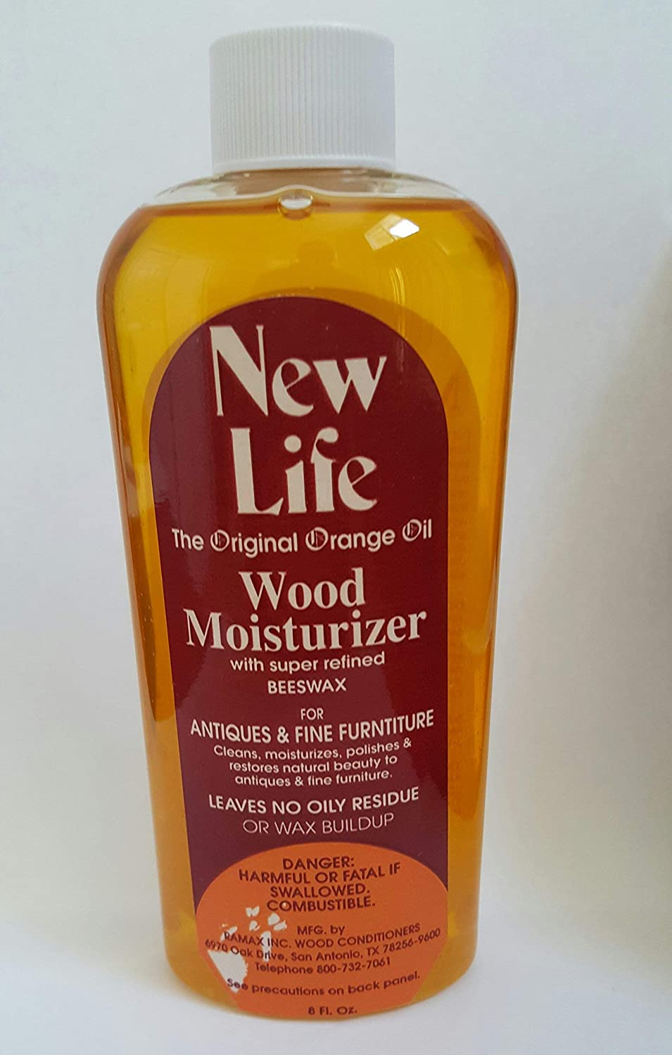 RAMAX New Life Wood Moisturizer Original Orange Oil 8 oz (8 oz)