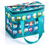 TEAMOOK Lunch Bag Insulated Lunch Box for kids and adults 1pcs Green Owl