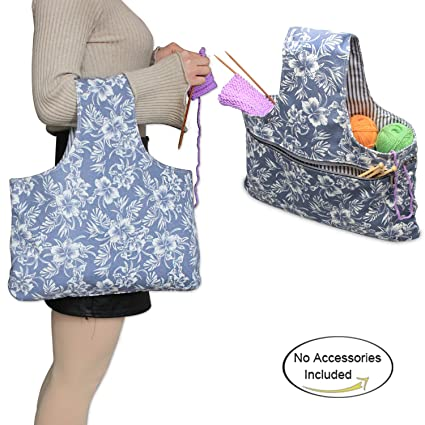 Amazon Teamoy Knitting Tote Bagl165h10 Travel Canvas