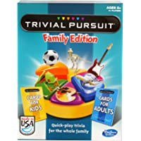 Trivial Pursuit Family Edition Game, Game Night, Ages 8 and up(Amazon Exclusive)