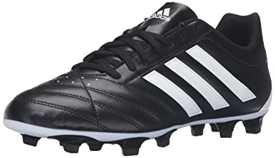 adidas Performance Men's Goletto V FG Soccer Shoe, Black/White/Black, 7