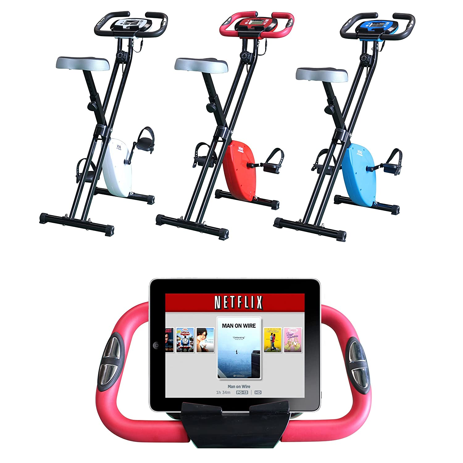 Foldable Magnetic Exercise X Bike For Cardio Fitness Workout